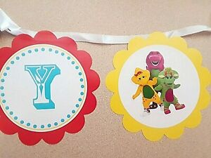 Barney and Friends Happy Birthday Banner 5 inches high x 8 feet long
