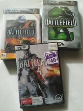 Battlefield 2, 4 & 1942 PC Video computer games with manuals and codes