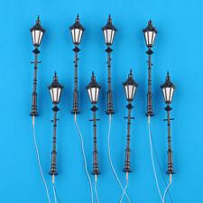 8x Antique Street Lights G Scale 1:25 Model Railway LED Lamppost Lamps 9.5cm