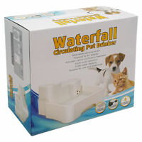PUPPY PET DOG CAT DRINK FRESH WATER WATERFALL DRINKING FOUNTAIN CARTRIDGE PUMP