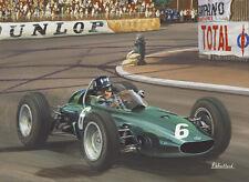 Formula 1 One F1 Motor Racing Car Graham Hill BRM Birthday Card