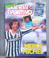 GUERIN SPORTIVO=N°21 1987=POSTER KIT SCUDETTO NAPOLI=MERCI MICHEL
