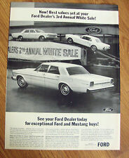 1966 Ford Mustang Custom 500 Ad   Annual White Sale
