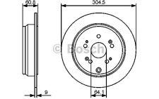 BOSCH Juego de 2 discos freno Trasero 304,5mm HONDA CR-V 0 986 479 449