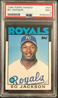 1986 Topps Traded Bo Jackson Rookie Card RC #50T PSA 9 MINT Royals (33) S30