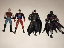 KENNER 1995 Lot 4 Action Figures SUPER BOY BATMAN Legends Dark Warrior DC Comics