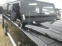 Land Rover Serie 2 2a 3 Bonnet Perno de acero de la rueda de repuesto Set Abrazadera Galvanizado