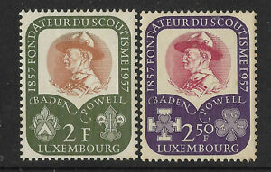 LUXEMBOURG 1957 BOY SCOUTS 2v MINT
