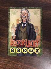 Button Men Doctor J. Robert Lucky Promo Card