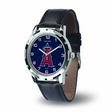 Los Angeles Angels MLB Wrecker Watch - Black PU Leather Band - Baseball