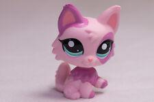 *Littlest Pet Shop* LPS #2100 Pink Purple Wolf Long Hair Cat Kitty near MINT