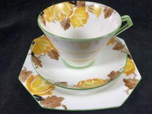 """Paragon Art Deco Pattern 4272 Tea Trio  """"Roses"""""""