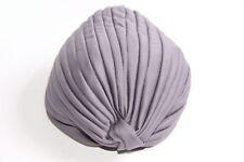 Femmes Simple Everyday polyester gris plissé Geo Turban Chapeau Style Français (S335)