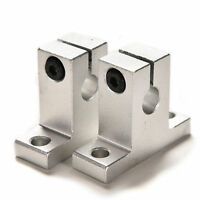 >> 2PCS/Set SK8 8mm Silver CNC Linear Rod Rail Shaft Guide Support Bearing Step