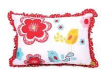 CUBBY HOUSE FLORAL SPOT RUFFLE CUSHION. NEW WITH TAGS.