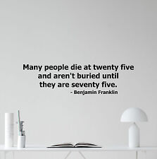 Benjamin Franklin Quote Wall Decal Vinyl Sticker Home Office Art Decor 96quo