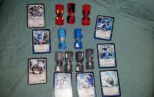 Monsuno Mega Lot (Total of 9 figures, 8 Cards)  USED GOOD SHAPE