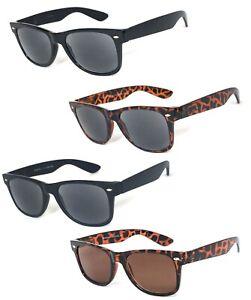 Retro Square Frame Full Tinted Lenses Sun Reader Reading Sunglasses UV Protect