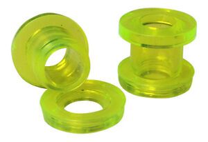 PAIR Acrylic Screw Fit Tunnels Plugs Gauges Earlets - choose your color!