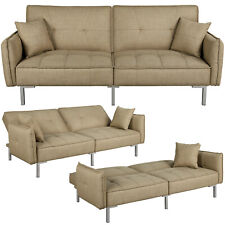 Futon Sofa Bed Recliner Couch Sectional Sleeper Sofa Daybed Chaise Lounge Khaki