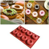 Silicone Doughnut Mould Chocolate Muffin Pan Sweet Mold Tray Cake Ice Soap B2W0