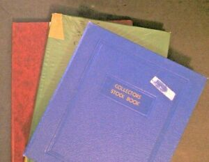 Lot of 3 Stock Page books Medium Size, Empty some Cover Stickers  No stamps *