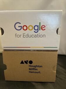 2 Official Google & Houghton Cardboard Virtual Reality Viewer For Cell Phone NEW