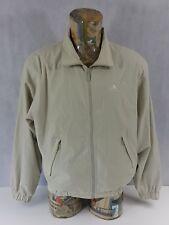 Adidas  Mens Jacket Bomber Harrington Large Zipped Beige <A1.3>