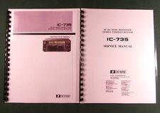 Icom IC-735 Instruction & Service Manuals: Full size Original Format schematics!
