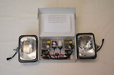IPF 800XS HID 55W RECTANGLE 4WD DRIVING LIGHT KIT + WIRING LOOM & CLEAR COVERS