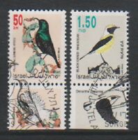 Israel - 1992, 50a & 1s50 Songbirds stamps +tabs - F/U - SG 1188, 1193
