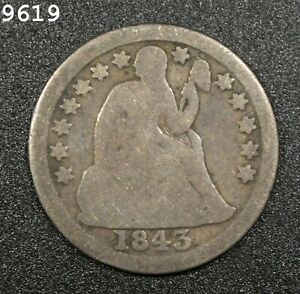 1843 Liberty Seated Dime *Free S/H After 1st Item*
