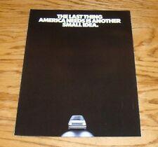 Original 1982 Winnebago Centauri Van Foldout Sales Brochure 82