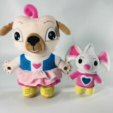 2PCS Chip And Potato Pug And Mouse Plush Stuffed Animal Toy Kids Bedtime Gift