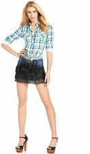 NWT $128 GUESS Fringed Brigitte Relaxed Mini skirt size 28