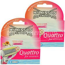 6 Wilkinson Quattro for women Rasierklingen Papaya Pearl Neu Original verpackt