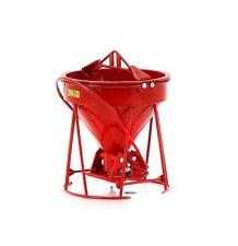 """Weiss 1901 Gar-Bro """"R"""" Series Round Gate Concrete Bucket - Red 1/50 Die-cast MIB"""