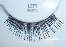 New False Fake Eyelashes Silver Black Lashes Costume Halloween