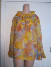 VINTAGE LADY WINN OF CALIFORNIA BY TEDDI RUFFLE BLOUSE XL
