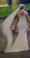 JUSTIN ALEXANDER 8530 Ivory Wedding Dress Immaculate Condition UK Sz 10/12