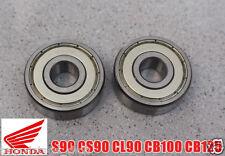 HONDA S90 CS90 CL90 CL100 CL125 CB100 CB125 FRONT WHEEL BEARING RADIAL BALL 2x