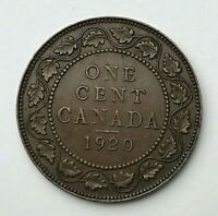 Dated : 1920 - Canada - One Cent - 1 Cent Coin - King George V