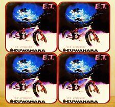 SET OF 4 MDF/CORK 95MM COASTERS - KUWAHARA BMX, ET EDITION