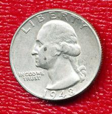 1948 WASHINGTON SILVER QUARTER **NICE CIRCULATED COIN** FREE SHIPPING!