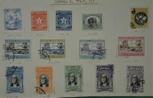 LIBERIA STAMPS SELECTION ON UNPICKED PART ALBUM PAGE  (G63)