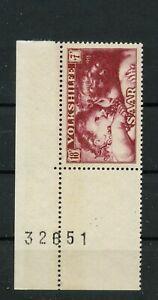 Germany Saar Saarland Jahrgang 1953 Mi. 345 UR postfrisch ** MNH (3)