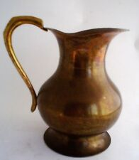 Vintage Arts and Crafts Solid Brass Pitcher