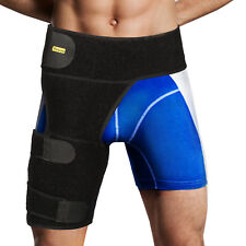 Yosoo Groin Support Brace Wrap Adjustable Neoprene Strained Hip Thigh Hamstring