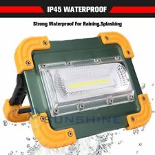 97000LM Rechargeable Inspection Flood Work Light COB LED Lamp Flashlight w/Stand