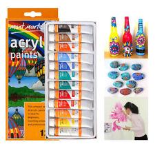 12pcs 12ml Painting Acrylic Pigment Palette Set Art Supplies